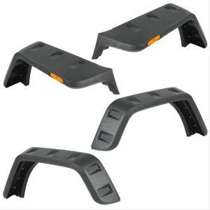 Rugged Ridge Hurricane Flat Fender Flares For 07+ Jeep Wrangler & Wrangler Unlimited JK (Smooth Black) 11640.25