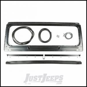 Omix-ADA Windshield Frame Kit For 1987-95 Jeep Wrangler YJ - Includes A Windshield Frame, Seals, Channels & Hardware 12006.13