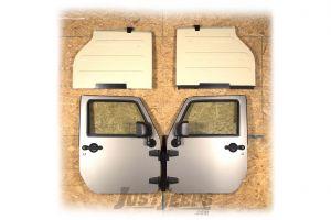 Rugged Ridge Door & Freedom Panel Wall Mount Kit For 2007-18 Jeep Wrangler JK 2 Door & Unlimited 4 Door Models 12107.18