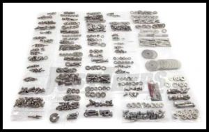 Omix-ADA Stainless Steel Body Fastener Kit (785 pc) For 1976-86 Jeep CJ7 With Hard Top 12215.06