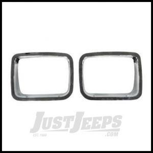 Rugged Ridge Headlight Bezel Set Chromed ABS plastic For 1987-95 Jeep Wrangler YJ 12419.05