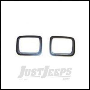 Rugged Ridge Headlight Bezel Set Black ABS plastic For 1987-95 Jeep Wrangler YJ 12419.24