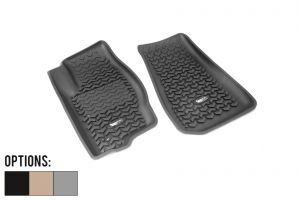 Rugged Ridge All Terrain Front Floor Liner (Pair) For 2005-10 Jeep Grand Cherokee WK & Commander XK 12920.28-