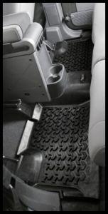 Rugged Ridge Rear Floor Liner In Black For 2007+ Jeep Wrangler Unlimited JK 4 Door 12950.01