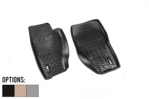 Rugged Ridge Front Floor Liner (Pair) For 2008-12 Jeep Liberty KK Models 12920.31-