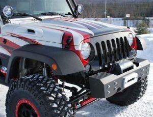 Off Camber Fabrications Front Stubby Winch Bumper For 2007-18 Jeep Wrangler JK 2 Door & Unlimited 4 Door Models 131093