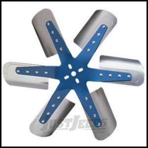 """Flex-A-Lite Blue Star Stainless Steel 17"""" Flex Fan 1317"""
