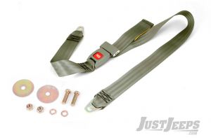 Omix-ADA Lap Seat Belt Olive Non-Retractable For 1987-95 Jeep Wrangler YJ 13202.40