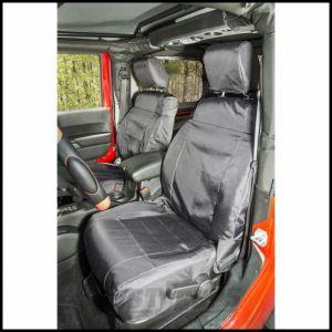 Rugged Ridge Front Black Ballistic Seat Covers For 2011-18 Jeep Wrangler JK 2 Door & Unlimited 4 Door Models 13216.12
