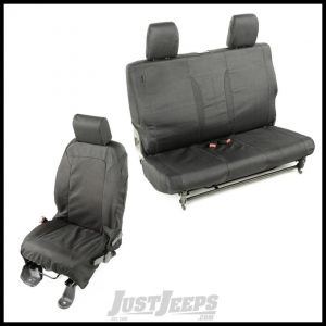 Rugged Ridge Elite Ballistic Seat Cover Kit In Black For 2007-10 Jeep Wrangler JK 13256.01