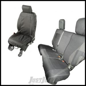 Rugged Ridge Elite Seat Covers Set Black For 2007-10 Jeep JK Unlimited 13256.02