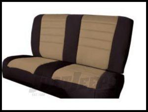 Rugged Ridge Neoprene Custom-Fit Rear Seat Cover Tan on black 1980-95 Jeep Wrangler YJ and CJ7 13262.04