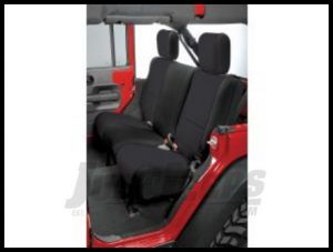 Rugged Ridge Custom Fit Neoprene Rear Seat Covers Black on Black 2007+ JK Wrangler Unlimited 13264.01
