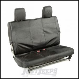Rugged Ridge Rear Black Ballistic Seat Cover Set For 2007-10 Jeep Wrangler JK 2 Door 13266.05