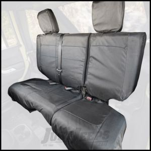 Rugged Ridge Rear Black Ballistic Seat Cover Set For 2007-10 Jeep Wrangler JK Unlimited 4 Door Models 13266.06