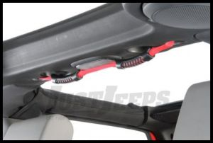 Rugged Ridge Center Roll Bar Dual Grab Handle Red 2007-11 JK Wrangler, Rubicon and Unlimited 13305.13