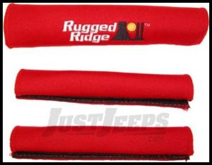 Rugged Ridge Grab Handle Cover Kit in Red 1997-06 TJ Wrangler, Rubicon and Unlimited 13305.53