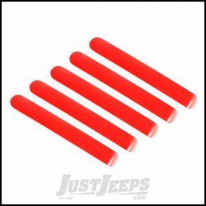 Rugged Ridge 5 Piece Red Elite Door Handle Insert Kit For 2007-18 Jeep Wrangler JK Unlimited 4 Door Models 13311.45