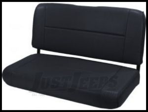 Rugged Ridge Fixed Vinyl Rear Seat Black 1955-95 Wrangler and CJ 13461.01