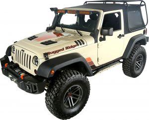 Rugged Ridge Exo-Top With Tinted Windows For 2007-18 Jeep Wrangler JK 2 Door Models 13516.01