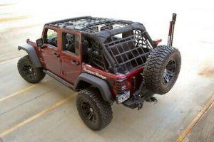 Rugged Ridge (Black) Cargo Net For 2007-18 Jeep Wrangler JK Unlimited 4 Door Models 13552.71