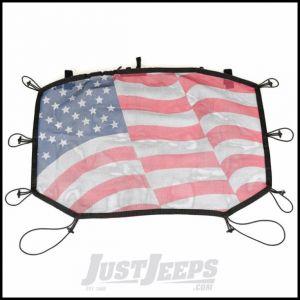 Rugged Ridge Sun Shade With Us Flag Design For 2007-18 Jeep Wrangler JK 2 Door & Unlimited 4 Door Models (Hardtop) 13579.20