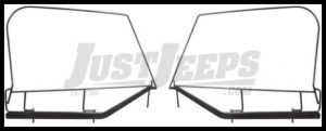 Rugged Ridge OEM Style Upper Door Frame Pair For 1997-06 TJ Wrangler, Rubicon and Unlimited 13703.80