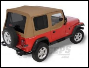 Rugged Ridge XHD Replacement Soft Top with Upper Door Skins & Tinted Windows Spice 1988-95 Jeep Wrangler YJ 13722.37