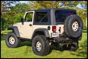 Rugged Ridge Fabric Replacement Soft Top Black Diamond For 2007-09 Jeep Wrangler JK and Rubicon 13736.35