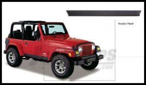 Bushwacker TrailArmor Rocker Panels For 1997-06 Jeep Wrangler TJ Models