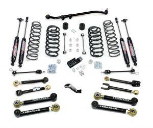 "TeraFlex 4"" Premium Suspension System With Shocks For 1997-06 Jeep Wrangler TJ & Unlimited 1456452"