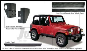 Bushwacker TrailArmor 6 Piece Set For Bushwacker Fender Flares For 1997-06 Jeep Wrangler TJ Models
