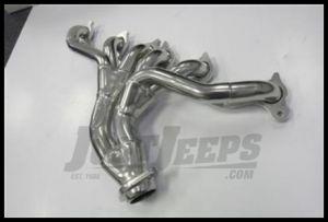 JBA Performance Cat4Ward Header Silver Ceramic Coated Finish For 1991-99 Jeep Wrangler YJ & TJ With 4.0L 1526SJS