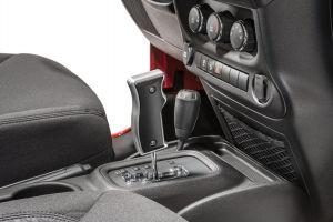 DV8 Off Road Black Billet Aluminum Automatic Pistol Grip Shift Knob For 2011-18 Jeep Wrangler JK 2 Door & Unlimited 4 Door D-JP-181101-BL