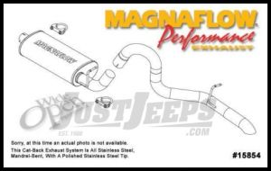 Magnaflow Performance Stainless Steel Cat Back Exhaust System For 1997-99 Jeep Wrangler TJ With 2.5L or 4.0L 15854