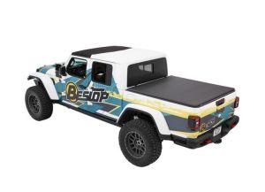 BESTOP EZFold Soft Folding Tonneau Cover For 2020+ Jeep Gladiator JT 4 Door Models 16280-17