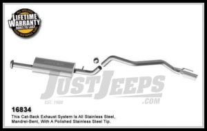 Magnaflow Performance Stainless Steel Cat Back Exhaust System For 2007-09 Jeep Grand Cherokee With 3.7L 16834
