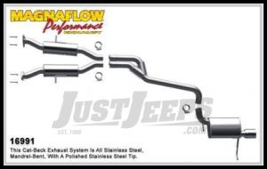 Magnaflow Performance Stainless Steel Cat Back Exhaust System For 2011 Jeep Grand Cherokee With 3.6L 16991