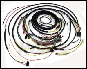Omix-ADA Wiring Harness For 1954-56 Jeep CJ5 Exact Fit Cloth (Includes Turn Signal Wires, Non Military) 17201.09