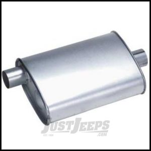 DynoMax Muffler Ultra Flo Stainless Steel For 1991-99 Jeep Wrangler YJ & TJ 17282
