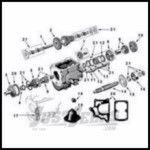 Omix-ADA T90 Transmission Kit Unassembled For 1941-71 Jeep M & CJ Series 18802.03