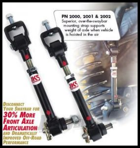"""JKS Manufacturing Quicker Disconnects For 1984-06 Jeep Cherokee XJ, Comanche MJ, Grand Cherokee ZJ, Wrangler TJ & Unlimited with 0-4"""" Lift 2000"""