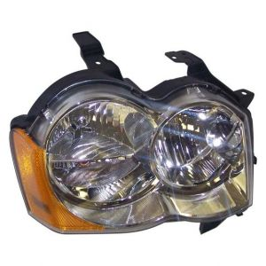 Quadratec Passenger Side Head Lamp Assembly for 08-10 Jeep Grand Cherokee WK without High Intensity Discharge Bulbs 55220.0021