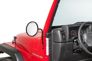 Quadratec Adventure® Mirrors with Round Head for 76-20+ Jeep Wrangler JL, JK, TJ, YJ, CJ & Gladiator JT 13111.0401