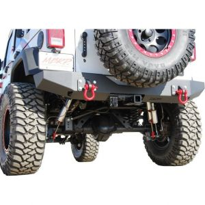 Off Camber Fabrications Rear Full Width Bumper Package LINE-X Coated for 07-18 Jeep Wrangler JK, JKU 131177LX