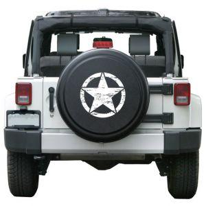 Boomerang Enterprises Distressed Star Rigid Tire Cover in Textured Black RG-