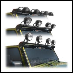 CARR XRS Rota Light Bar in Black Powder Coat For 2007-18 Jeep Wrangler JK 2 Door & Unlimited 4 Door Models 210221