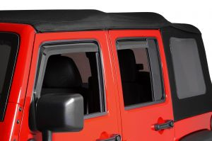 Quadratec 4pc Window Visors for 07-18 Jeep Wrangler JK Unlimited 11063.9101