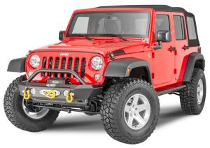LoD Offroad Offroad Signature Series Shorty Front Winch Bumper with Bull Bar for 07-18 Jeep Wrangler JK JFB0733