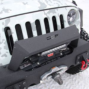 Off Camber Fabrications Formed Front Light Bar Black Coated for 07-18 Jeep Wrangler JK with OCF Front Bumper 182766
